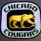 "Defunct Chicago Cougars WHL Hockey Patch 5 3/4"" 1970's"