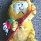 Garfield the Cat Plush with Skis in Knit Hat & Scarf