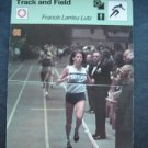 1977-1979 Sportscaster Card Track and Field Francie Larrieu Lutz 09-08