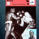 1977-1979 Sportscaster Card Boxing Sugar Ray Robinson 07-19
