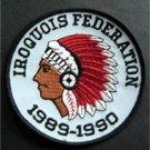 "Iroquois Federation 1989-1990 Boy Scout BSA Patch 4"""