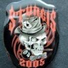 Sturgis South Dakota 2005 Motorcycle PIN Skull in Hat Ace of Spades 8 Ball