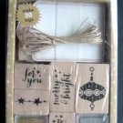 Hero Arts Decorate It Tags Merry & Bright 6 Stamps 2 inkers 20 Tags MIP