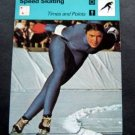 1977-1979 Sportscaster Card Speed Skating Shiela Young Times and Points 10-21
