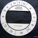 Cadaco All-Star Baseball Game Disk Camilo Pascual Pitcher