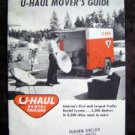 Vintage 1959 U-Hall Rental Trailers Movers Guide Booklet EX