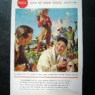 Vintage 1958 Coke~Sign of good taste..everywhere.... Magazine Advertisment