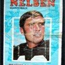 1971 Topps Football Pin Up Poster Insert #16 Bill Nelsen Cleveland Browns