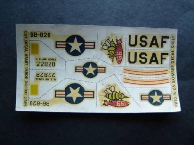 Vintage USAF B 66 Bomber Airplane Model Decal Sheet Unused