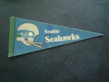 """Vintage NFL Football Mini Pennant 9"""" Seattle Seahawks"""