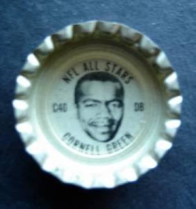 1960's TAB Bottle Cap Football NFL All Stars Cornell Green