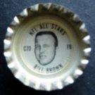 1960's TAB Bottle Cap Football NFL All Stars Bill Brown