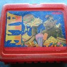 1987 ALF TV Show Alien Productions Red Plastic Lunch Box No Thermos