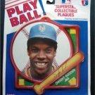 1990 NY Mets Baseball Play Ball Plaque Dwight Gooden