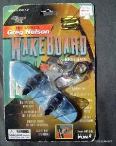 Vintage Greg Nelson Wake Board Keychain by Basic Fun MOC 1999