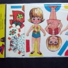 1970s Patty's Playmate Paper Dolls with Stand & Outfits MIP