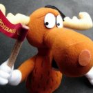 """Bullwinkle the Moose Stuffins Doll 9"""" TV Rocky & Bullwinkle Show Wossamotta U"""