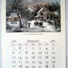 1980 Currier & Ives Calendar Travelers Ins Hartford Ct