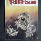 AUG 1974 FUR-FISH-GAME Crappie Cover by Knuth ~Fish Hunt Outdoor Sport