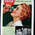 Vintage 1939 Coke-Cola ~ Its taste holds the answer ~ Magazine Advertisment