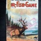 SEPT 1974 FUR-FISH-GAME Elk Cover by Peter Strzelewicz ~Fish Hunt Outdoor Sport