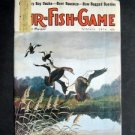 OCT 1974 FUR-FISH-GAME Sandusky Bay Ducks Cover by Knuth Fish Hunt Outdoor Sport