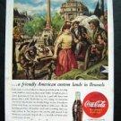 Vintage 1945 Coke-Cola ~ Da's na fijn Zunne WW II Military Magazine Advertisment