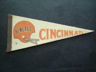 """Vintage NFL Football Mini Pennant 9"""" Cincinnati Bengals VG"""
