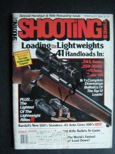 Shooting Times Magazine February 1984 Loads Guns Rifles Bullets Remington