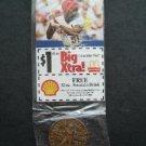 2000 McDonalds St Louis Cardinals Baseball Bronze Coin & Card Willie McGee RARE