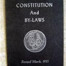 Constitution and By-Laws National Association of Basketball Coaches March 1955