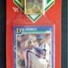 MVP BB 1991 Score Card & Pin New York Mets Dwight Doc Gooden