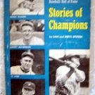 Stories of Champions Baseball Hall of Fame Book 1966 Scholastic
