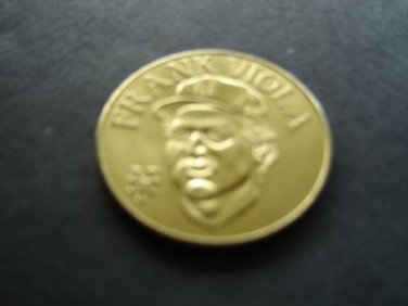 1990 Sport Stars BanDai Collector Brass Coin Frank Viola New York Mets