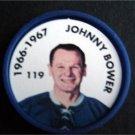 1966-1967 NHL Hockey Coin # 119 Johnny Bower Toronto Maple Leafs