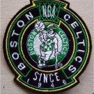 "Boston Celtics Basketball Cloth Crest Shield Patch 3 1/2"""