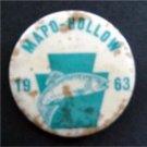 "1963 Mapo-Hollow Fish Pin 1 3/4"" Diameter VG"