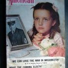 THE AMERICAN MAGAZINE Nov 1942 WW II Hitler Nazi Navy Stalin Cover~Patricia Hall
