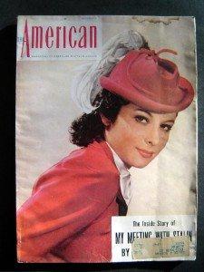 THE AMERICAN MAGAZINE Dec 1941 WW II Hitler Nazi Navy Stalin Cover~Patricia Hall