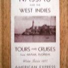 1930 Havana Nassau West Indies Vacation Travel Brochure