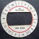 Cadaco All-Star Baseball Game Disk Ed Mathews 3rd Base