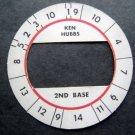 Cadaco All-Star Baseball Game Disk Ken Hubbs 2nd Base