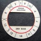 Cadaco All-Star Baseball Game Disk Frank Malzone 3rd Base