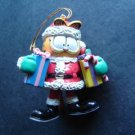 """Garfield the Cat with Christmas Presents and Santa Suit Ornament 3"""" Tall"""