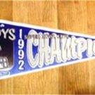 1992 Dallas Cowboys Super Bowl Champions Pennant Helmet Design