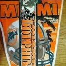 Miami Dolphins Football Pennant Pin & Bumper Sticker