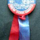 1986 New York Giants NFC Champions Super Bowl XXI PIN with Ribbon