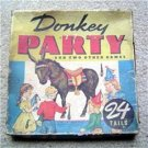 Vintage Pin the Tail on the DONKEY PARTY  Game Whitman 1941 #3015