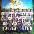 """20 Negro League Players """"Tribute to Leon Day"""" Ron Lewis Baseball Poster Unsigned"""