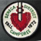 "Fall 1972 Seneca District Camporee Boy Scout BSA Patch 3"" Round"
